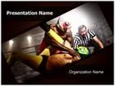 Wrestlers Referee PowerPoint Template, TheTemplateWizard