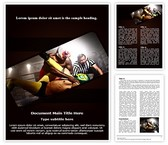 Wrestlers Referee Word Template, TheTemplateWizard