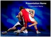 Wrestling PowerPoint Template, TheTemplateWizard