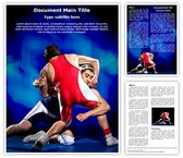 Wrestling Word Template, TheTemplateWizard
