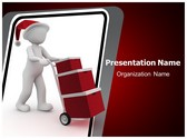 Xmas Gift Delivery PowerPoint Template, TheTemplateWizard