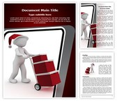 Xmas Gift Delivery Word Template, TheTemplateWizard