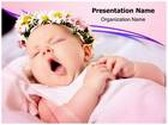 Yawning Child PowerPoint Template, TheTemplateWizard