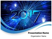 Year 2017 Celebration PowerPoint Template, TheTemplateWizard
