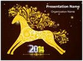 Year Of Horse PowerPoint Template, TheTemplateWizard