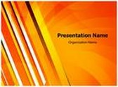 Yellow Rays Abstract PowerPoint Template, TheTemplateWizard