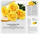 Yellow Rose Word Template, TheTemplateWizard