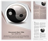 Ying Yang Symbol Word Template, TheTemplateWizard