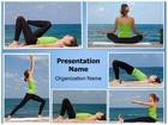 Yoga Exercises Collage PowerPoint Template, TheTemplateWizard