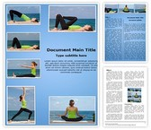 Yoga Exercises Collage Word Template, TheTemplateWizard