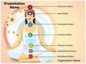 Yoga Lotus Position Seven Chakras PowerPoint Template, TheTemplateWizard