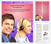 Young Customer Service Word Template, TheTemplateWizard
