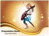 Young Guitarist PowerPoint Template, TheTemplateWizard