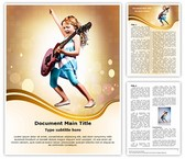Young Guitarist Word Template, TheTemplateWizard