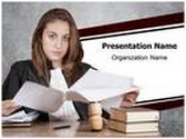 Young Judge PowerPoint Template, TheTemplateWizard