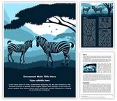 Zebra Word Template, TheTemplateWizard