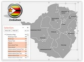 Zimbabwe PowerPoint Map, TheTemplateWizard