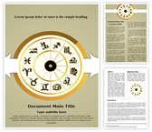 Zodiac Signs Word Template, TheTemplateWizard