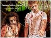 Zombies Couple PowerPoint Template, TheTemplateWizard