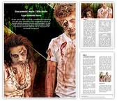 Zombies Couple Word Template, TheTemplateWizard